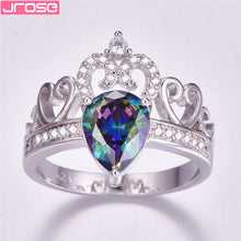 Load image into Gallery viewer, JROSE Fashion Silver 925 Princess Crown Rings