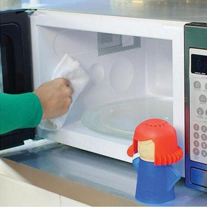 Angry Mama Microwave Cleaner Easily Cleans In Minutes ( no box)