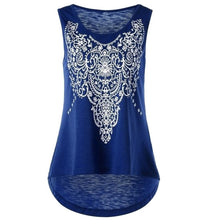 Load image into Gallery viewer, Plus Size Women Print Casual Sleeveless Vest T-shirt