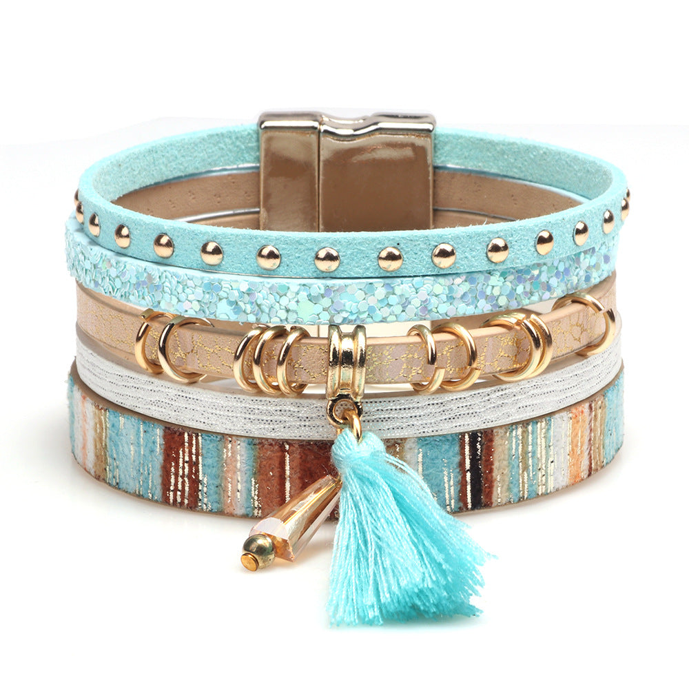 Kirykle Tassel Multilayer Bracelets