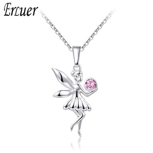 ERLUER trendy angel fairy necklace