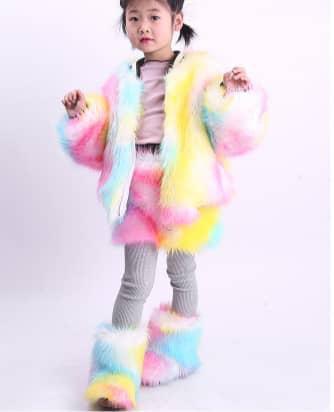Rainbow Fur Jacket