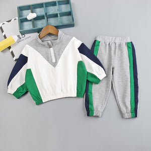 Striped Sweat suit set