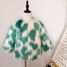 Load image into Gallery viewer, Cow print Faux Fur Jacket