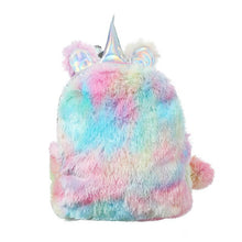 Load image into Gallery viewer, Unicorn Plush mini Backpack