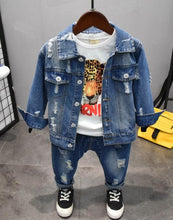 Load image into Gallery viewer, 3pc denim set toddler