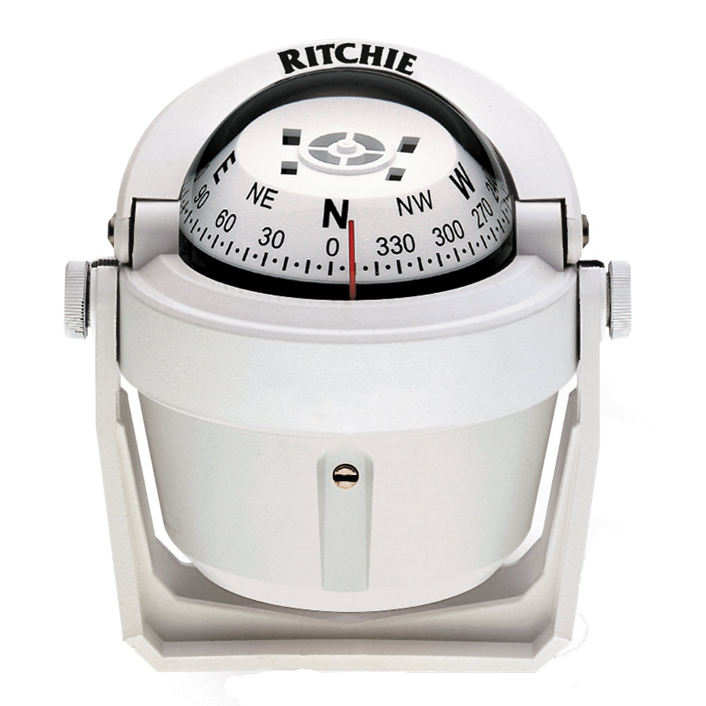 Ritchie B-51W Explorer Compass - Bracket Mount - White [B-51W]