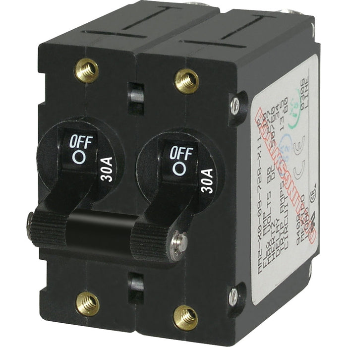 Blue Sea 7237 A-Series Double Pole Toggle - 30A - Black [7237]