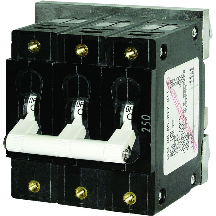 Blue Sea 7270 250A C-Series Triple Pole Toggle DC Circuit Breaker [7270]