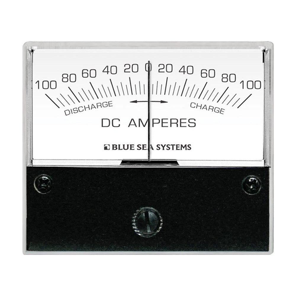 "Blue Sea 8253 DC Zero Center Analog Ammeter - 2-3/4"" Face, 100-0-100 Amperes DC [8253]"