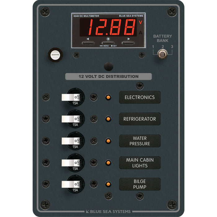 Blue Sea 8401 DC 5 Position w/Multi-Function Meter [8401]