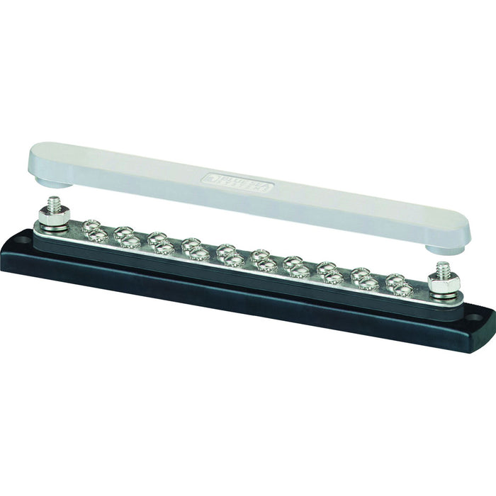 Blue Sea 2312, 150 Ampere Common Busbar 20 x 8-32 Screw Terminal with Cover [2312]