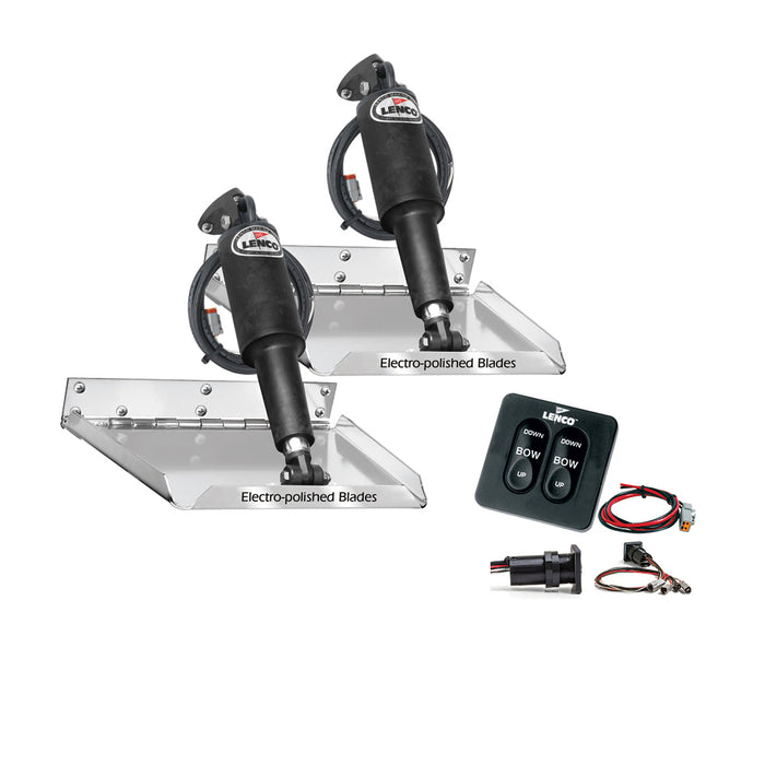 "Lenco 9"" x 12"" Standard Performance Trim Tab Kit w/Standard Tactile Switch Kit 12V [RT9X12]"