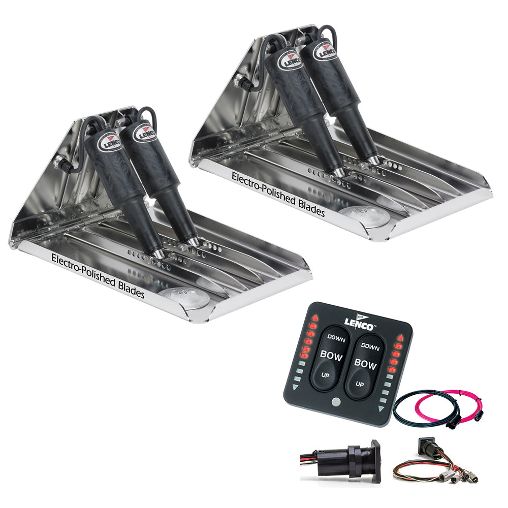 "Lenco 19"" x 14"" Extreme Duty Performance Trim Tab Kit w/LED Indicator Switch Kit 12V [RT19X14XDI]"