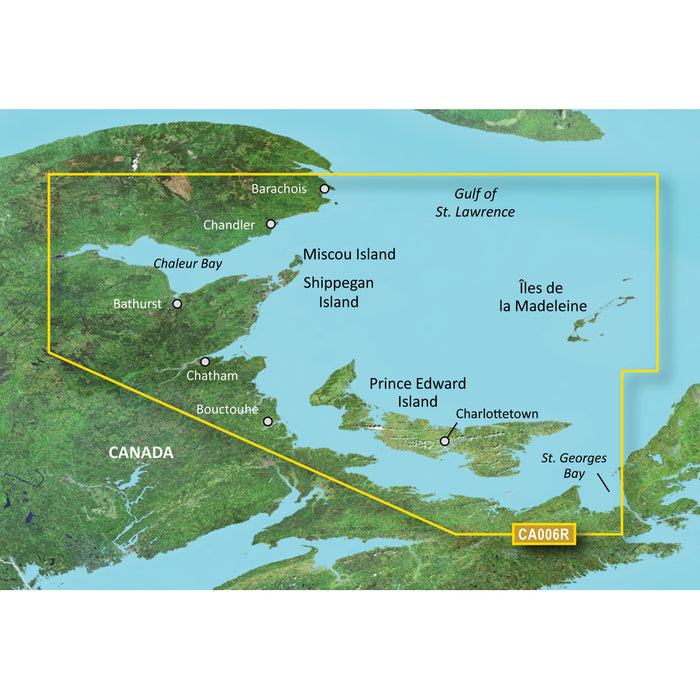 Garmin BlueChart g3 Vision HD - VCA006R - P.E.I. to Chaleur Bay - SD Card [010-C0692-00]