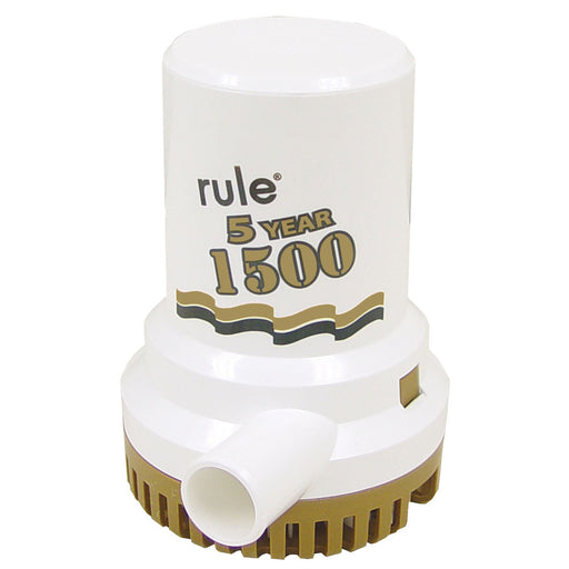 "Rule 1500 G.P.H. ""Gold Series"" Bilge Pump [04]"