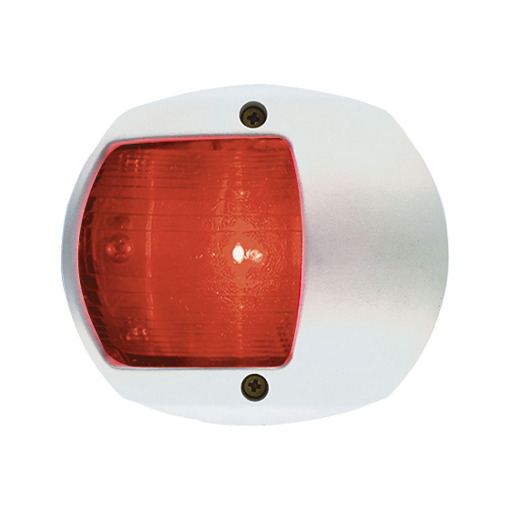 Perko LED Side Light - Red - 12V - White Plastic Housing [0170WP0DP3]