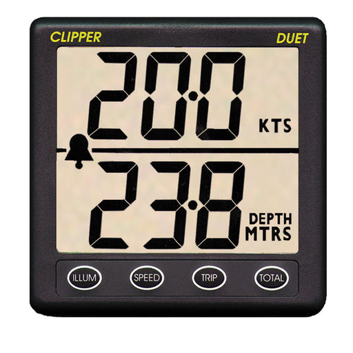 Clipper Duet Instrument Depth Speed Log w-Transducer [CL-DS]