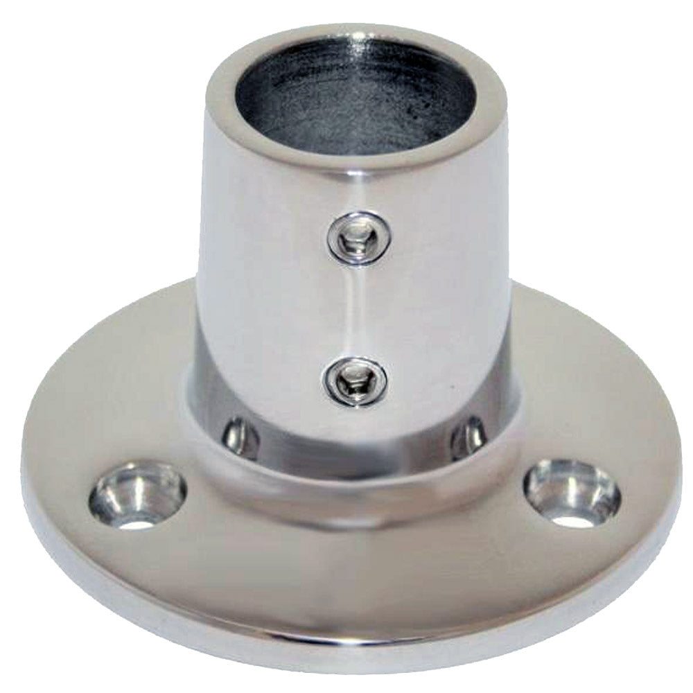 "Whitecap "" O.D. 90 Degree Round Base SS Rail Fitting [6039C]"