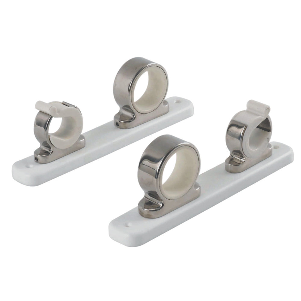 TACO 2-Rod Hanger w-Poly Rack - Polished Stainless Steel [F16-2751-1]