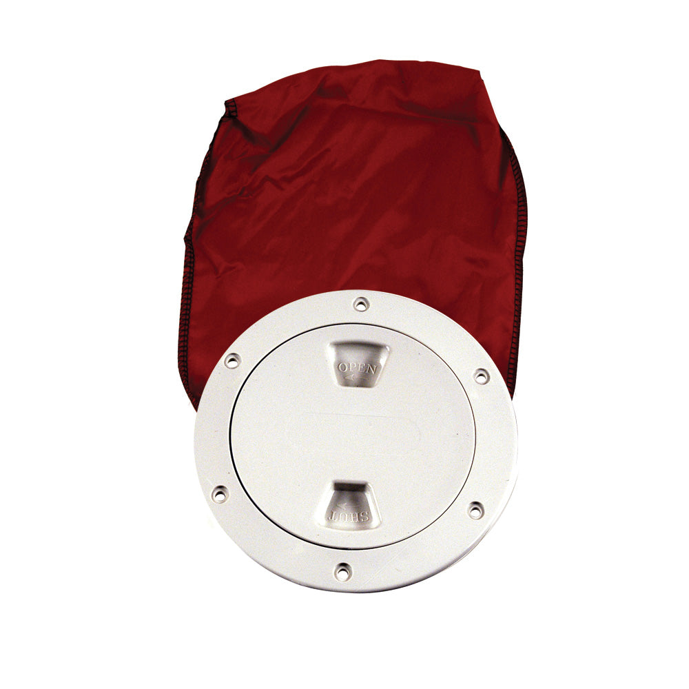 "Beckson 4"" Stow-Away Deck Plate - White w/12"" Bag [DP40BW]"