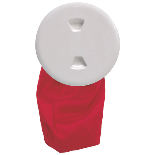 "Beckson 5"" Stow-Away Deck Plate - White w-12"" Bag [DP50BW]"