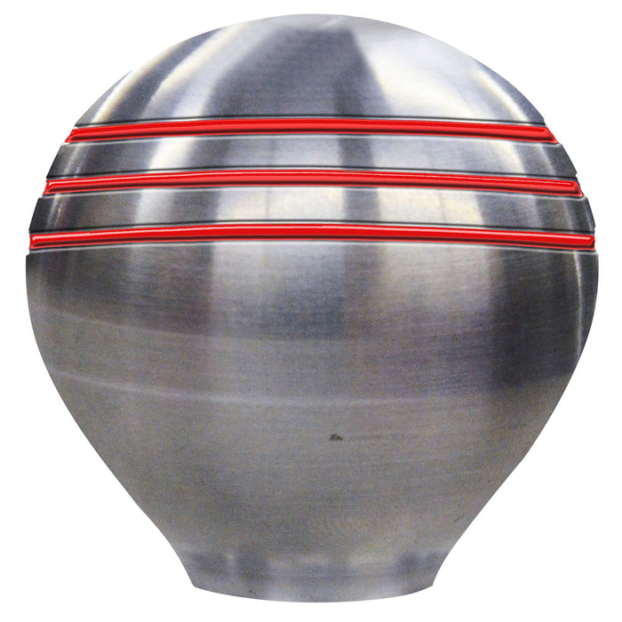 "Schmitt  Ongaro Throttle Knob - 1-"" - Red Grooves [50020]"