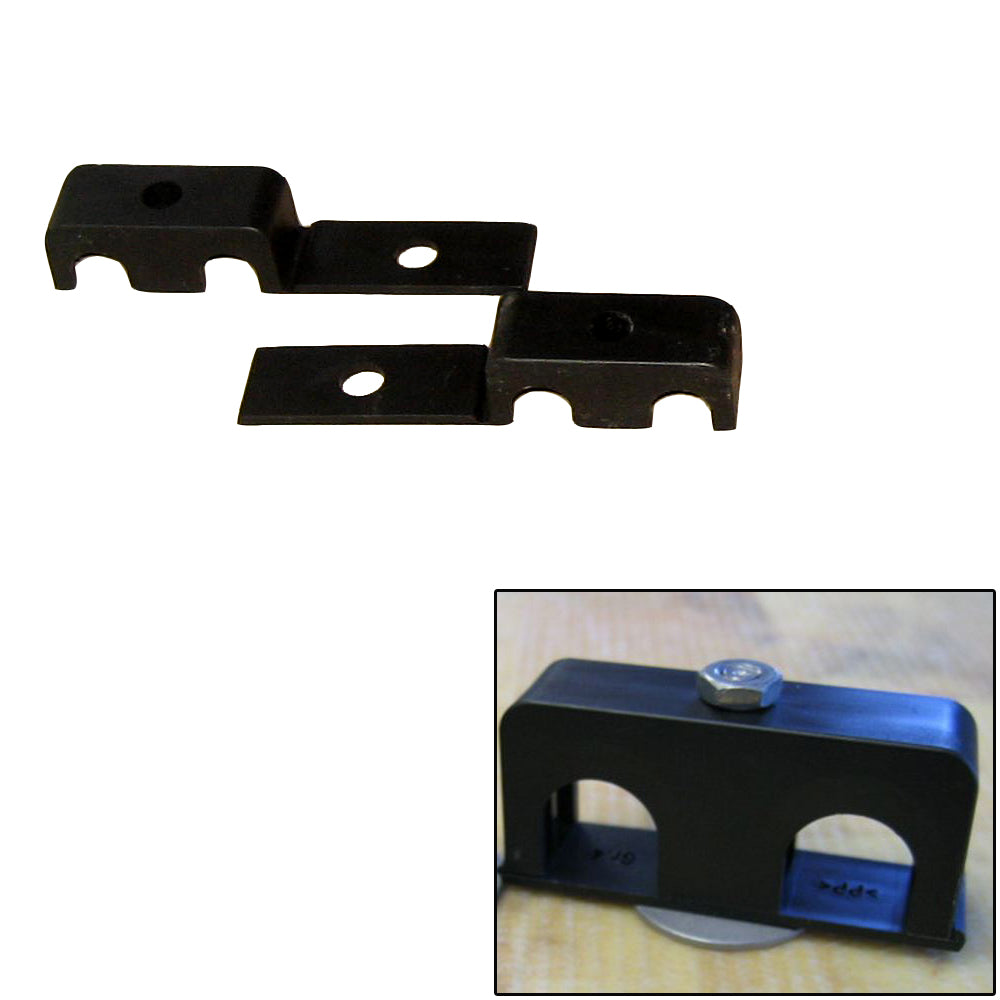 "Weld Mount Double Poly Clamp f-1-4"" x 20 Studs - 3-8"" OD - Requires 1"" Stud - Qty. 25 [80375]"