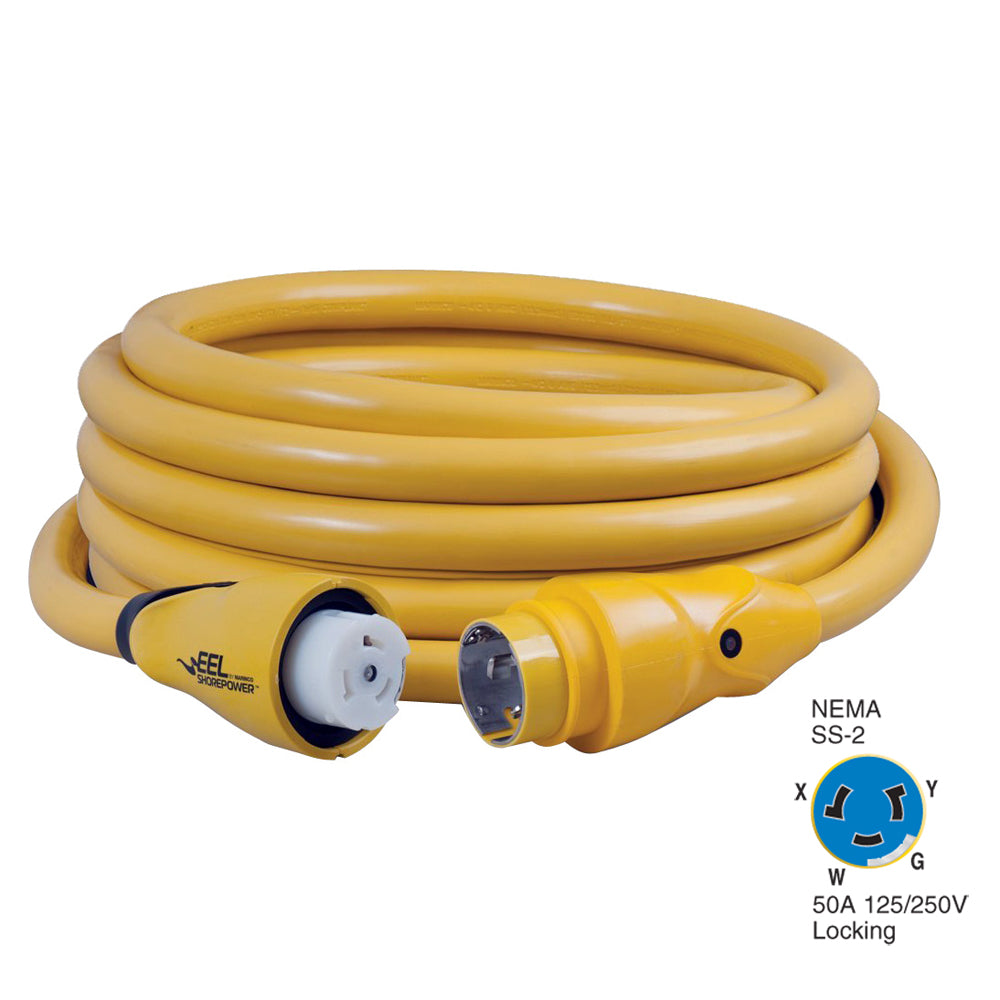 Marinco CS504-25 EEL 50A 125V/250V Shore Power Cordset - 25' - Yellow [CS504-25]