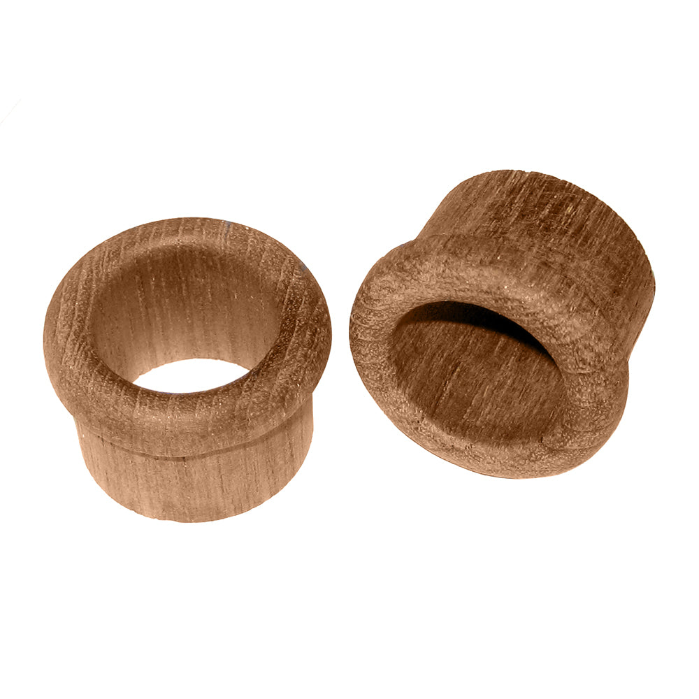 "Whitecap Teak Finger Pull - 1"" Barrel Length - 2 Pack [60146-A]"