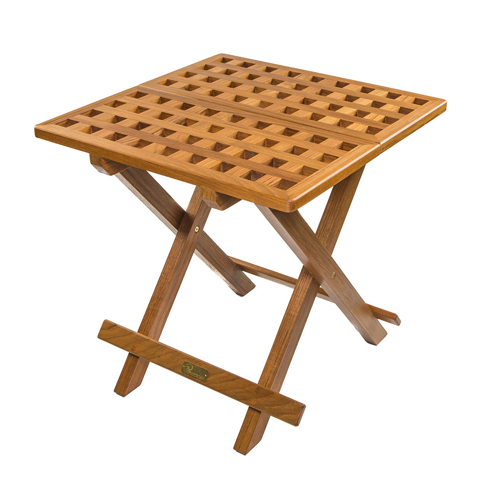 Whitecap Teak Grate Top Fold-Away Table [60030]