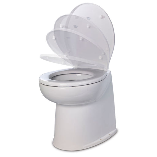 "Jabsco 17"" Deluxe Flush Fresh Water Electric Toilet w/Soft Close Lid - 24V [58040-3024]"