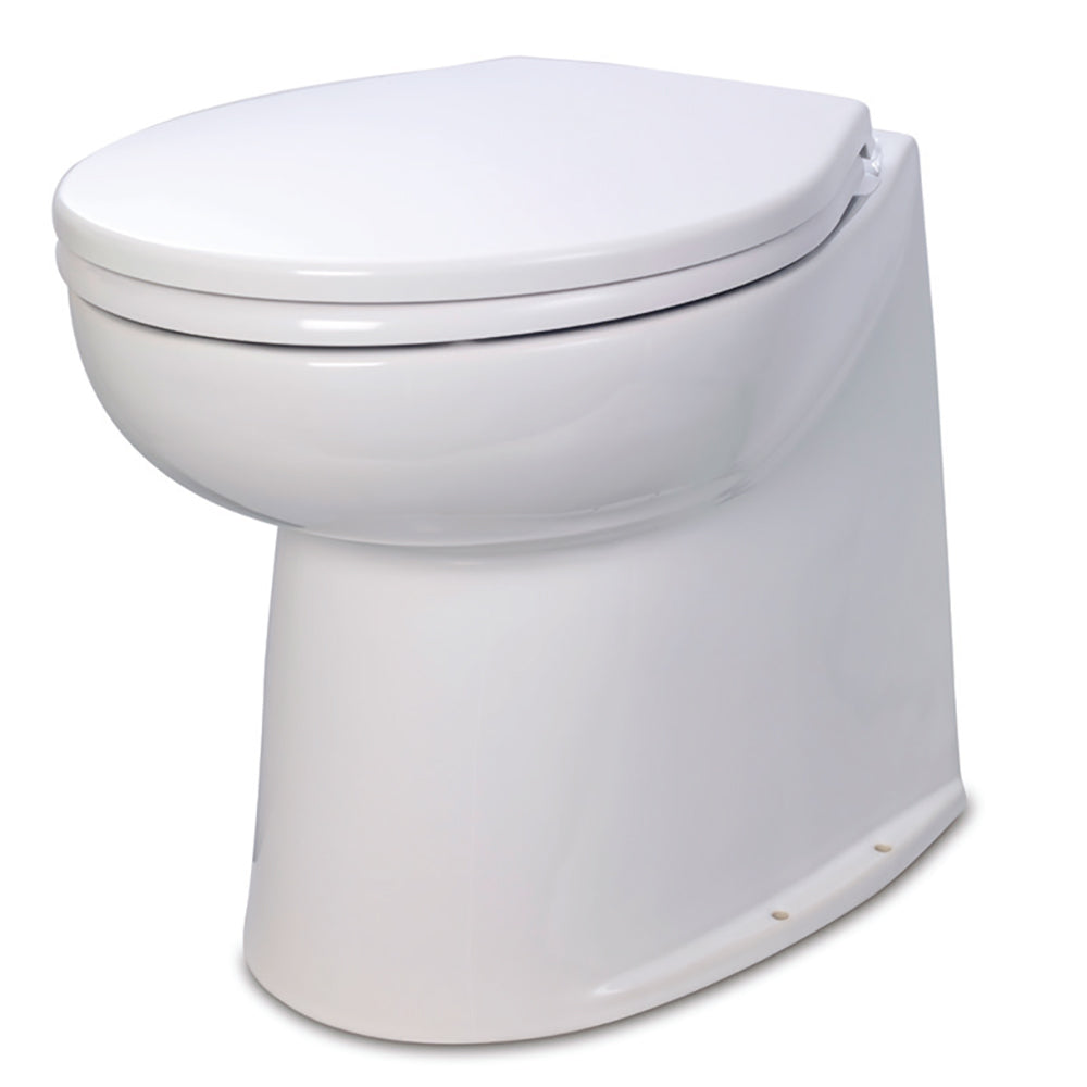 "Jabsco Deluxe Flush 14"" Straight Back 24V Electric Toilet w/Intake Pump [58280-1024]"