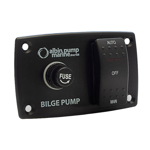Albin Pump 3-Way Bilge Panel - 12-24V [01-66-027]
