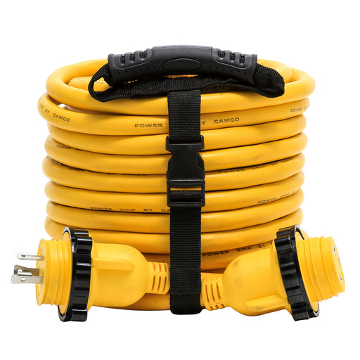 Camco 30 Amp Power Grip Marine Extension Cord - 50 M-Locking-F-Locking Adapter [55613]