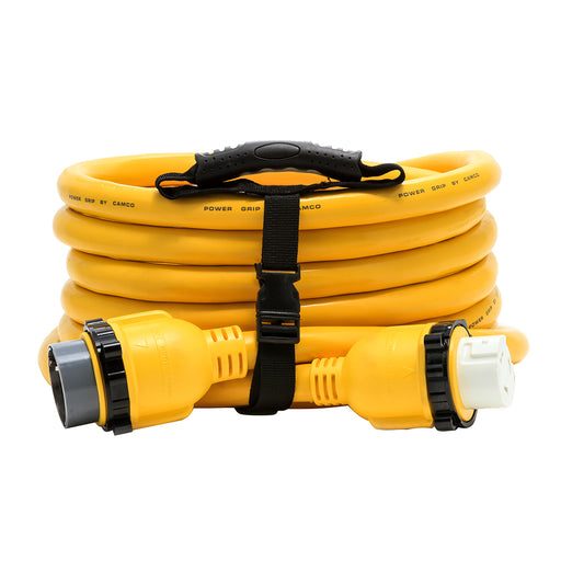 Camco 50 Amp Power Grip Marine Extension Cord - 25 M-Locking-F-Locking Adapter [55621]