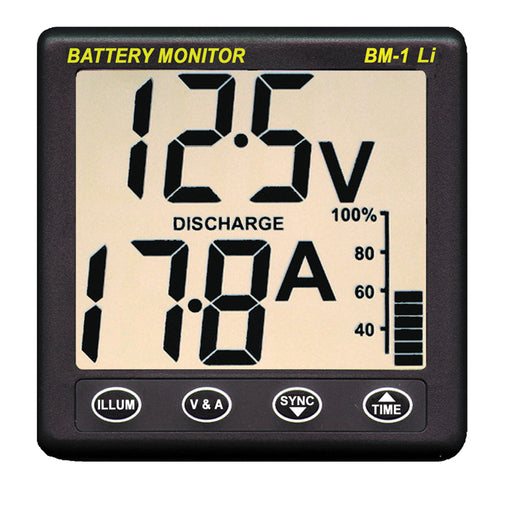 Clipper BM-1 LI Battery Monitor f-12V Lithium [BM-1 LI]