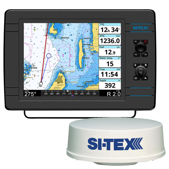 "SI-TEX NavPro 1200 w/MDS-12 WiFi 24"" Hi-Res Digital Radome Radar w/10M Cable [NAVPRO1200R]"