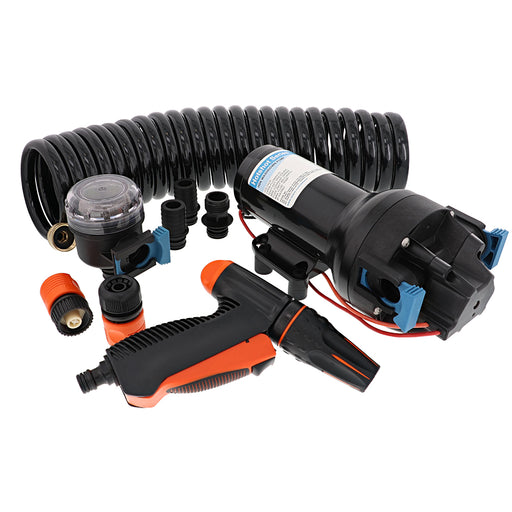 Jabsco HotShot HD6 Heavy Duty Washdown Pump w/25 HoseCoil - 12V - 6 GPM - 70 PSI [P601J-219N-4A]