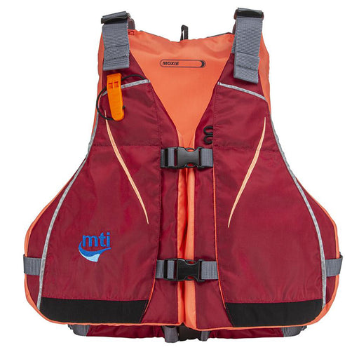 MTI Moxie Womens Life Jacket - Merlot/Coral - Medium/Large [MV807M-M/L-857]