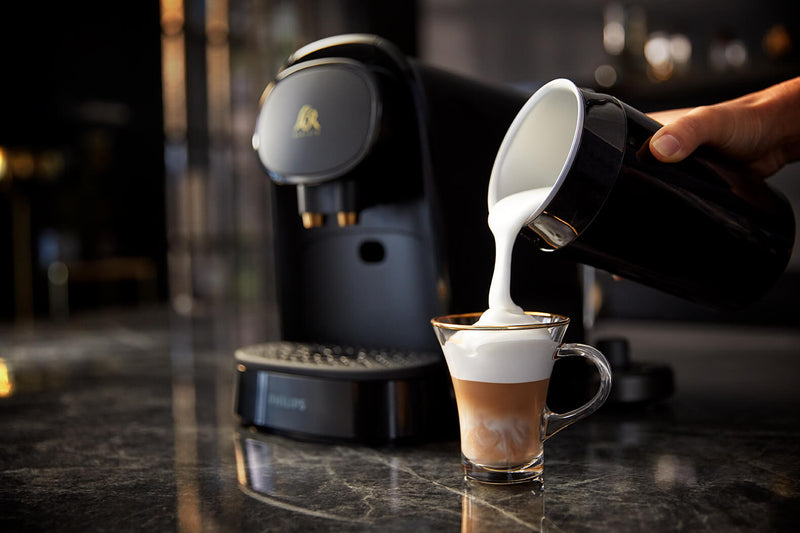 Preparing a cappuccino with the L'OR BARISTA Coffee Machine