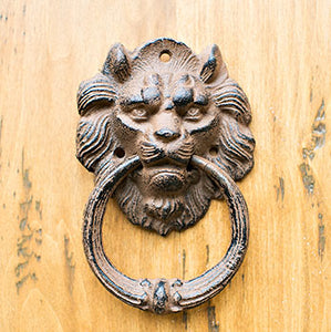 Antique Lion on the Door