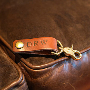 A Very Personal Leather Key Fob