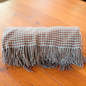 Cashmere Houndstooth Throw