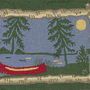 Moonlight Canoe Doormat