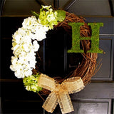 Personalized Initial Wreath