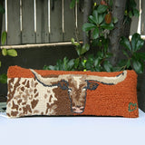 Longhorn Pillow - Narrow