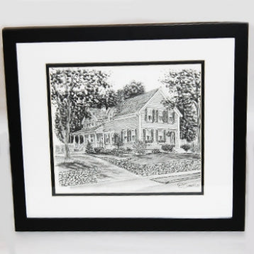 Custom Charcoal House Portrait