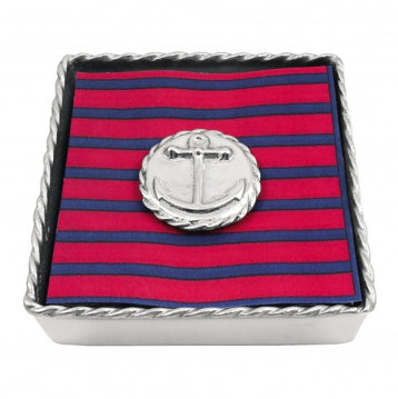 Anchor Emblem Twist Napkin Box