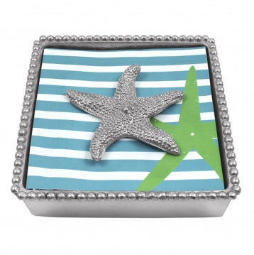 Starfish Beaded Napkin Box